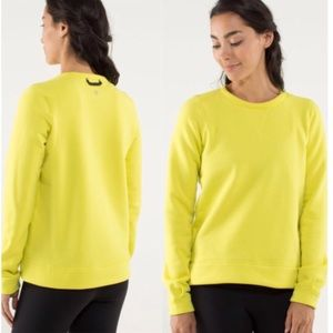 Lululemon Yellow Pullover Cozy Sweater sz 6